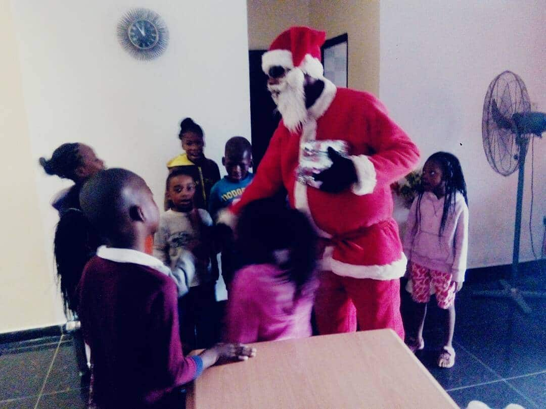 Father Christmas in the home during 2017 yuletide